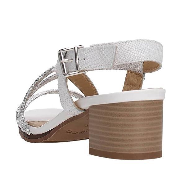 IGI&CO 7839100 sandalo donna in pelle intreccio bianco argento Amazon Línea Barata Perfecta De Descuento QLLhvrEu