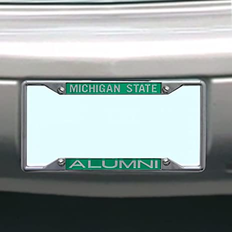 ncaa michigan state spartans license plate frame alumni - Michigan State License Plate Frame