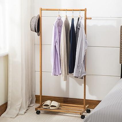 LXSnail Perchero Perchero Nan vestidor de Suelo de bambú ...