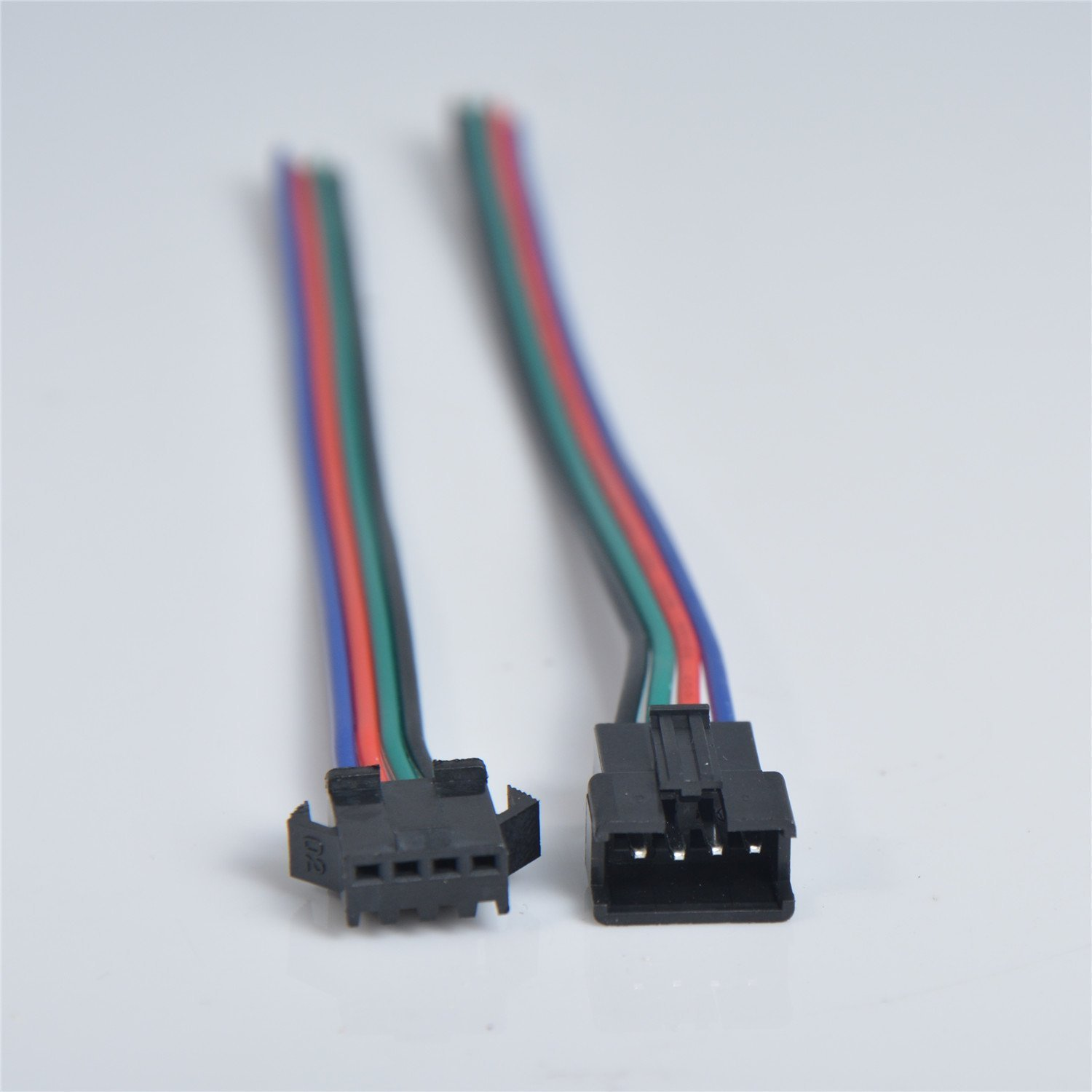 Amazon.com: MagicW 20 Pair 4 Pin 4P JST SM Connector Male to Female ...