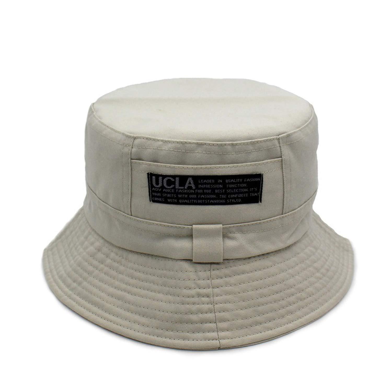 Letter Bucket Cap Cotton Fisherman Hat Unisex Summer Beach Outdoor Sun Fishing Bucket Hats