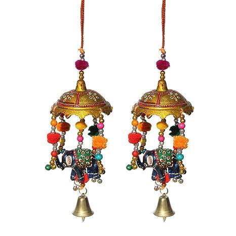 Amazon Com Handicrafts Paradise Door Hanging Umbrella With Elephant
