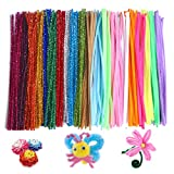 NABLUE Jumbo Pack of 300 Pipe Cleaners Set,Chenille Stems 6 mm x 12 Inch Furry Wire Twist Tie in Assorted Colours - for Craft DIY Art Supplies,Party Decoration