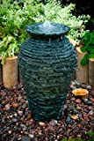 Aquascape 98939 Small Stacked Slate Urn Fountain for Landscape and Gardens, 32 Inches Tall
