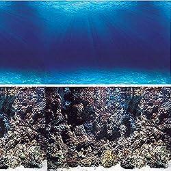 Vepotek Aquarium Background Deep Seabed/Coral Rock Double Sides (Deep Seabed/Coral Rock, 48WX24H)