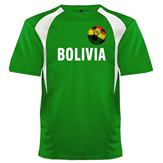 abda70a63194 Custom Bolivia Soccer Ball 1 Jersey Adult 2X-Large in Kelly Green and White