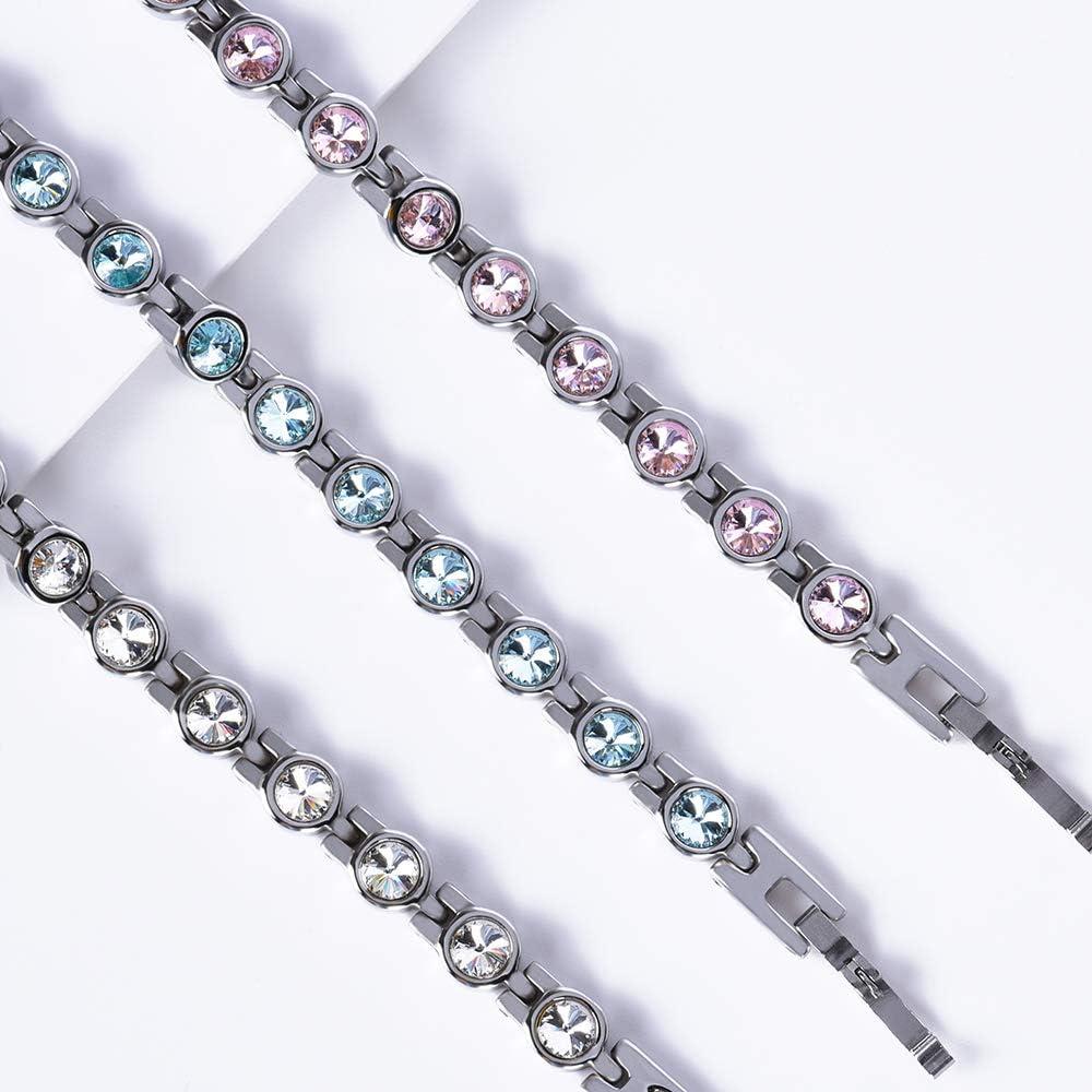 Jeroot Bracelet Magnetique,Bracelets Magn/étiques Femme Magnetique Bracelet Femme Lien libre Outil de Suppression