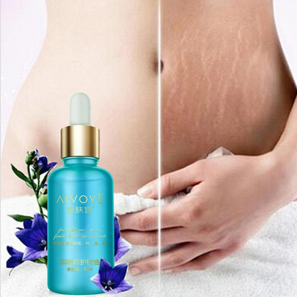 Stretch Mark Oil - Extreme Scars Remover - Fheaven Intensive Natural Deep Prevention - Pregnant Belly Massage - Leg Marks Removal - For Women & Men (blue)