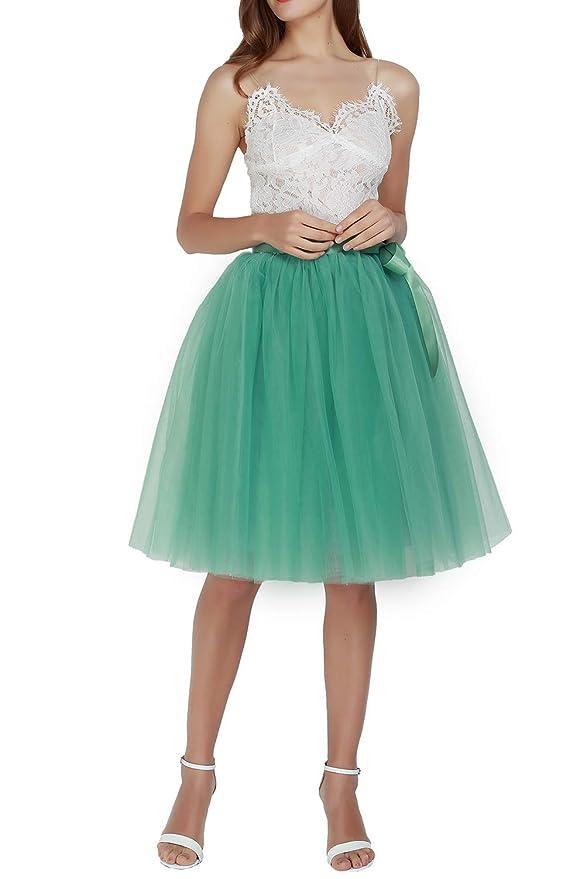 Happy Cherry - Falda de Tul para Mujer Cancan Enagua Faldas ...