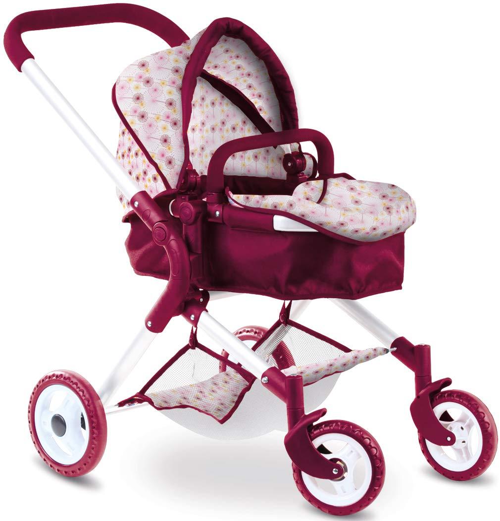 Götz 3402381 Happy Flowers 4-rädriger Puppenwagen - passend für alle Puppen bis 50 cm - geeignet für Kinder ab 3 Jahren