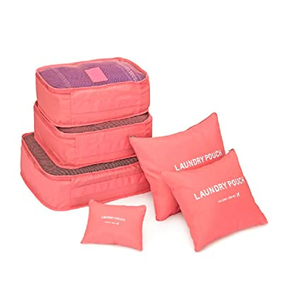 6pcs travel Organizers Packing Cubes Luggage Organizers Compression Pouches