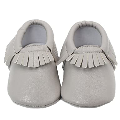Ecosin Baby Kids Tassel Soft Sole Anti-slip Leather Shoes Infant Toddler  Shoes (0 849a940368d4
