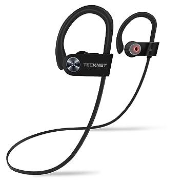 TeckNet Auriculares Bluetooth 4.1 con Micrófono Incorporado, Auriculares Deportivos Inalámbricos, Sonido Estéreo, IPX7 Resistente al Agua, Duración Máxima 8 ...