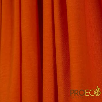 1a894e08f44 Amazon.com: ProECO Bamboo Organic Cotton Jersey Fabric (Blaze Orange, Made  in USA, sold by the yard): Baby
