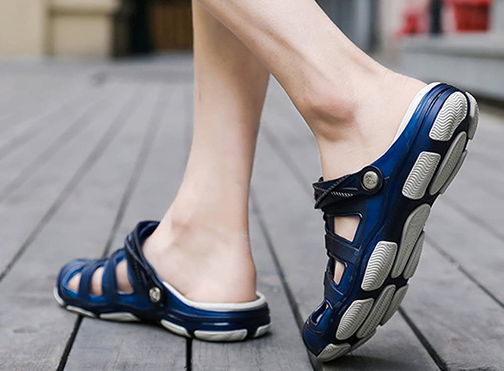 84c2d2dae2711e Amazon.com  Femaroly Summer Hole Shoes Men s Breathable Sandals Cloese Toes  Slippers Beach Shoes  Shoes