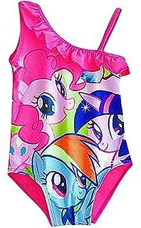 32bea5e3c85a5 Sweety, Girls 1 Piece Pink My Little Pony Single Strap Ruffled Top Monokini