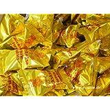 50 Glückskekse je 6g, einzeln in Goldfolie verpackt ~ Marke DIAMOND [YOAXIA] + ein kleines Glückspüppchen - Holzpüppchen