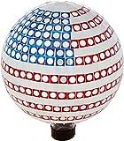 Trademark Innovations 10'' Mosaic Glass Gazing Mirror Ball (American Flag)