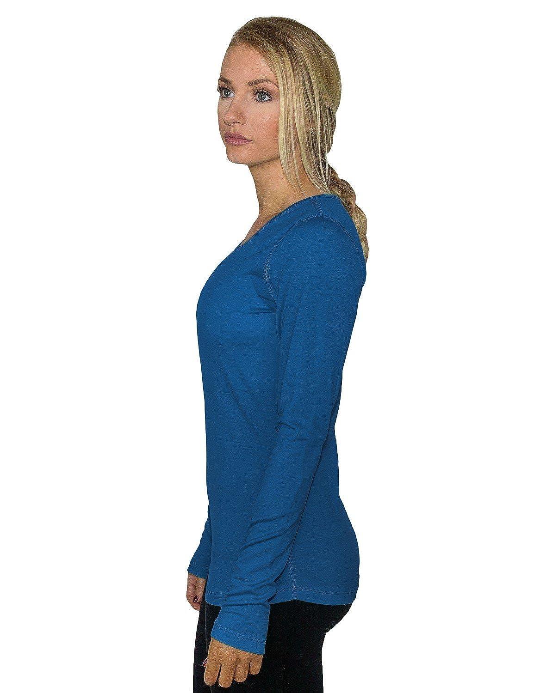 Womens Long Sleeve Tee Woolx Remi Moisture Wicking Merino Wool Top Lightweight