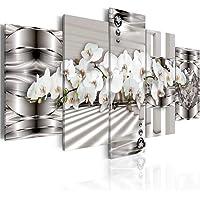 AYHBV Impresiones de Flores murales Pintura de Pared 5 Piezas Flor Cartel Moderno Lienzo Arte Cuadros modulares para Sala de Estardecoración del hogar