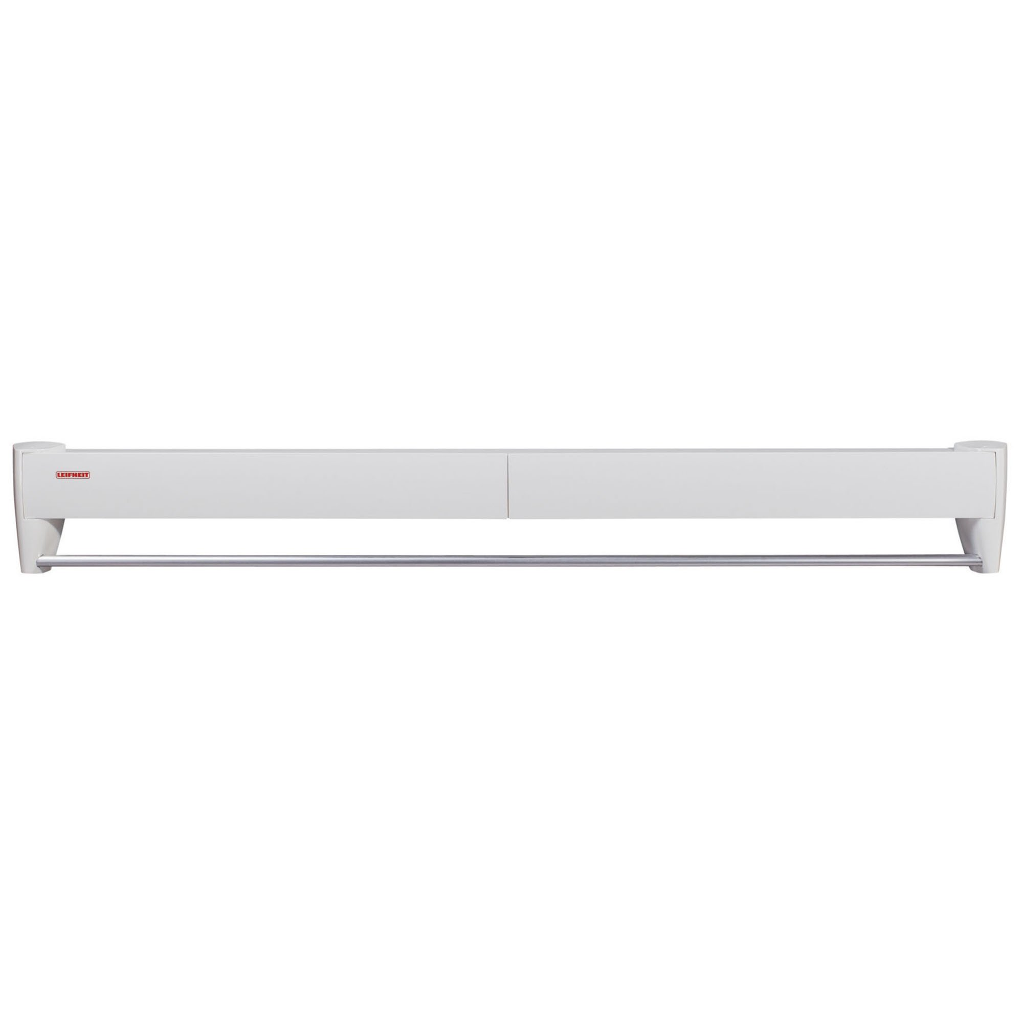 Leifheit Telegant 81 Protect Plus Tendedero de Pared, Metal, Blanco, 10.5 x 101.5