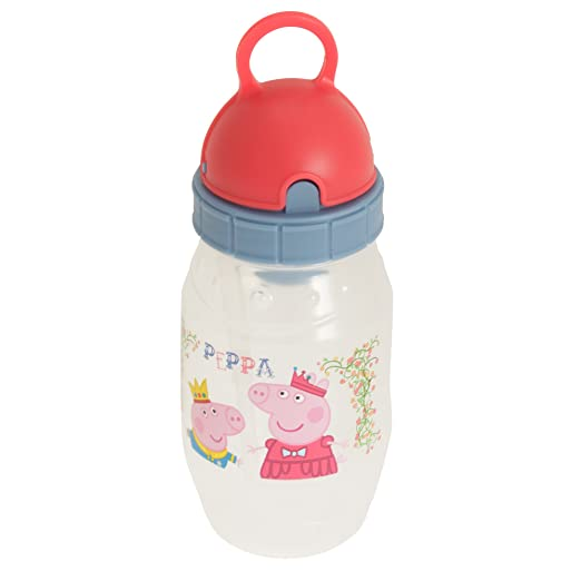 Peppa Pig Childrens/Kids Official Plastic Pixie Water Bottle (One Size) (Red