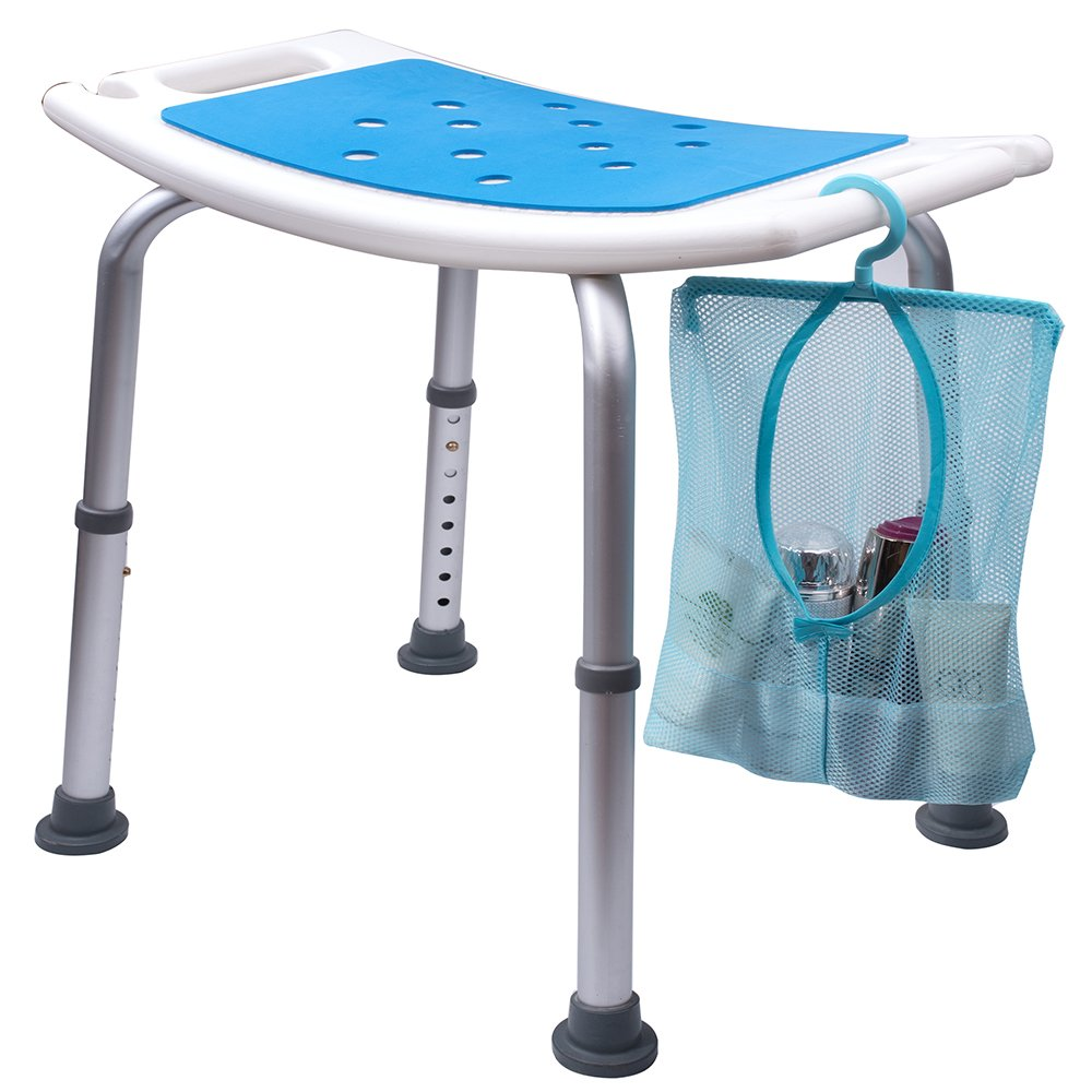 Medokare Shower Stool with Padded Seat - Shower Seats for Seniors ...