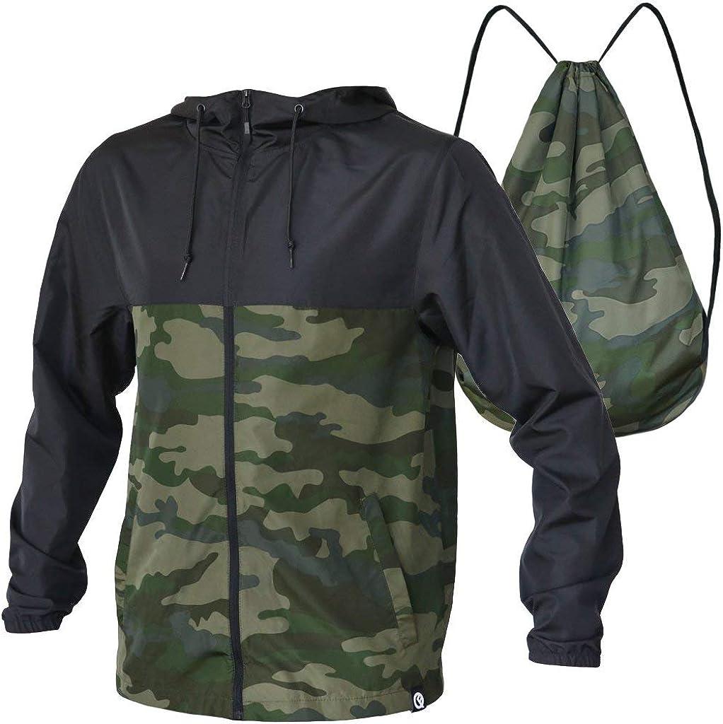 Unisex Dryflip Windbreaker Quikflip 2-in-1 Reversible Backpack Jacket As Seen on Shark Tank