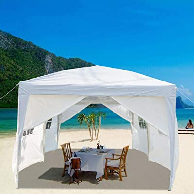 Outdoor Canopy Party Wedding Tent,Sunshade Shelter,Outdoor Gazebo Pavilion with Removable Sidewalls Upgraded Thicken Steel Tube 3 x 6m Four Windows Tent: Sports & Outdoors