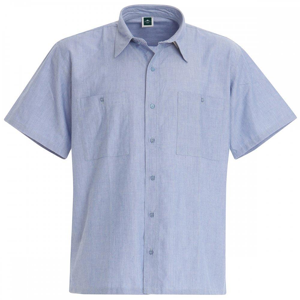 Set 2 Pezzi Camicia Da Lavoro In Cotone Oxford A Manica Corta - M, Azzurro Mariner