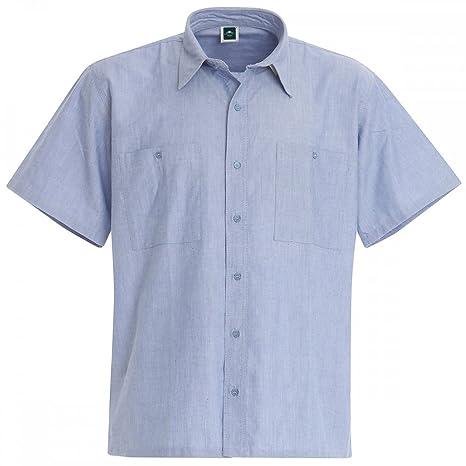 e0d096d352f394 Set 2 Pezzi Camicia Da Lavoro In Cotone Oxford A Manica Corta - M, Azzurro