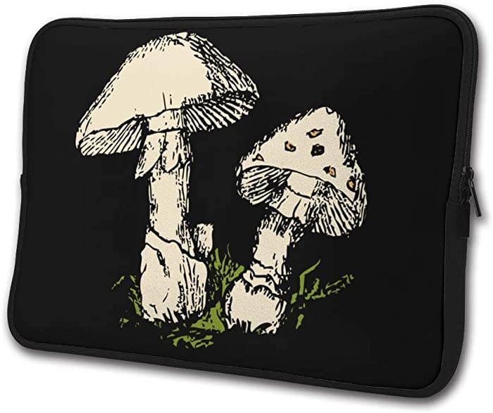 SWEET-YZ Laptop Sleeve Case Colored Mushrooms Notebook Computer Cover Bag Compatible 13-15 Inch Laptop