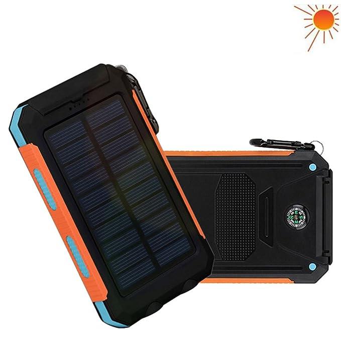RDT 20000 mAh Solar Power Bank, Cargador solar con interfaz dual ...