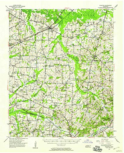 YellowMaps Stanton TN topo map, 1:62500 Scale, 15 X 15 Minute, Historical, 1952, Updated 1958, 20.9 x 17.1 in - Tyvek ()