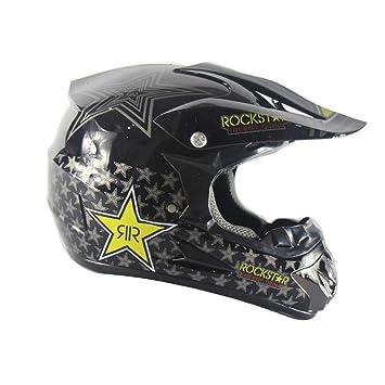 QLIGHA Cascos De Moto Al Aire Libre Cabeza Protección Carretera Racing Cross Country Casco Completo Gorra