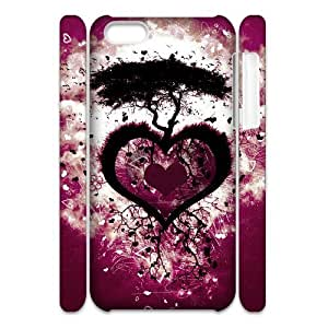 DIY High Quality Case for Iphone 5C 3D, Love Tree Phone Case - HL-R657567