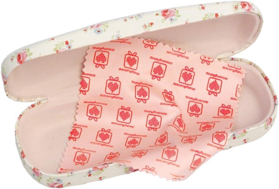 design a scelta Baia di fenicotteri Custodia rigida per occhiali e panno per la pulizia