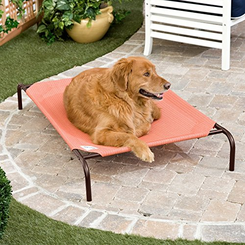 The Original Elevated Pet Bed By Coolaroo - Small Terracotta (Bed For Small Pet)