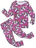 Jxstar Girls' New 2-Piece Cotton Pajamas