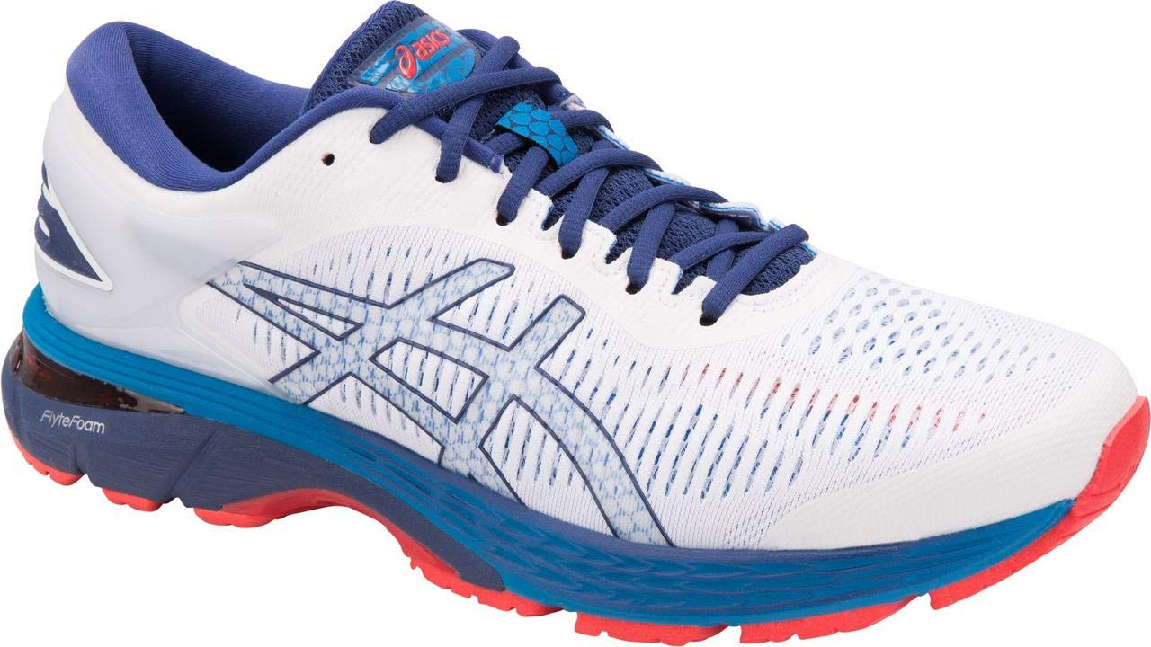 ASICS Gel-Kayano 25 Men's Running Shoe, White/Blue Print, 7 D(M) US by ASICS (Image #2)
