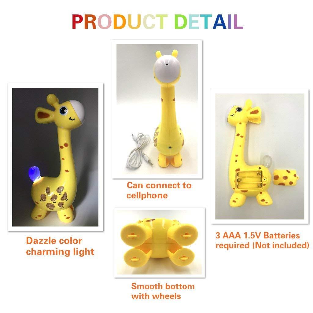 Happytime 2018 Cool Giraffe Design Birthday Gifts Intelligence Development Toys 18 Months up Children BABY ART PARK Kids Karaoke Microphone Musial Toys