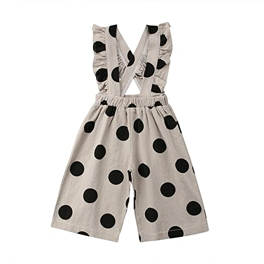 2ae72cdb3349 Image Unavailable. Image not available for. Color  Toddler Baby Girls Polka  Dot Bib Overalls ...