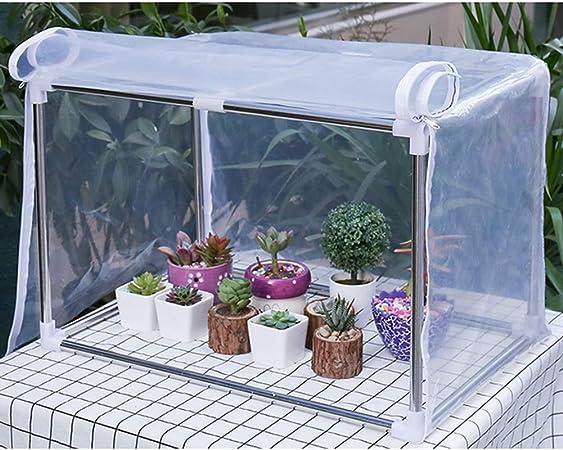 Gzhenh Invernaderos Jardin A Prueba De Viento Resistente Al Frio Impermeable Plantas Suculentas Patio Cobertizo De Aislamiento Fácil De Montar Jardín Al Aire Libre: Amazon.es: Hogar