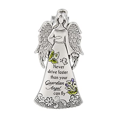 "Ganz Zinc Visor Clip ""Never Drive Faster than Your Guardian Angel Can Fly"": Kitchen & Dining"