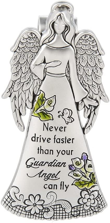 Cathedral Art Angel Visor Clip Never Drive Faster