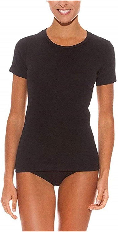 Playtex Camiseta Interior de Algodón para Mujer Manga Corta Negra (EG)(4589): Amazon.es: Ropa y accesorios