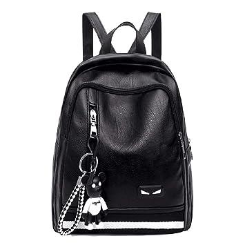 Deawecall Bolsa de Viaje Mochila Casual a Prueba de Agua Cuero de Moda Mujer con Tachuelas Negro (Color : Negro): Amazon.es: Hogar