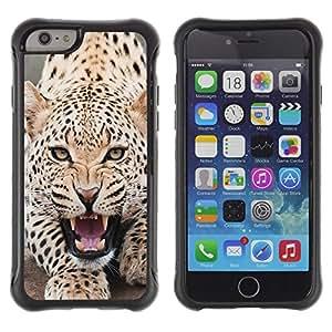 Suave TPU GEL Carcasa Funda Silicona Blando Estuche Caso de protección (para) Apple Iphone 6 PLUS 5.5 / CECELL Phone case / / Leopard Angry Roar Spots Furry Animal /