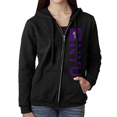 40c3f9976e00 Women Nyu New York University Logo Hoodie Sweatshirt Black at Amazon Women s  Clothing store