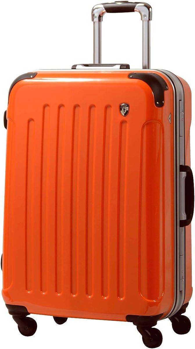S【マットA】オレンジ/newFK10371スーツケースキャリーバッグ軽量TSAロック(2~4日用)マット加工ファスナー開閉タイプ